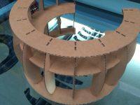 Laser cut cardboard prototype desk