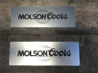 Molson Coors - engraved plaques