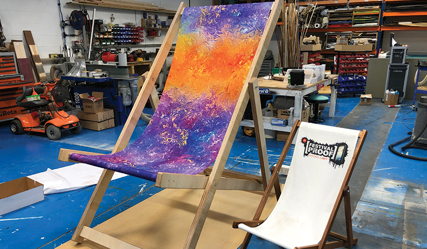 Giant Deckchairs designed and produced by Buzz