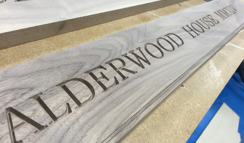 Alderwood House - laser engraved wooden signs