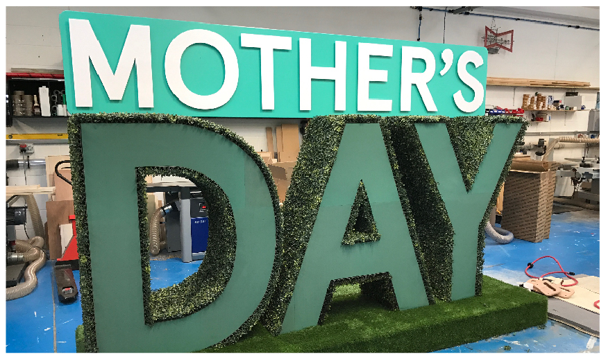 Mothers Day Sign for Tesco